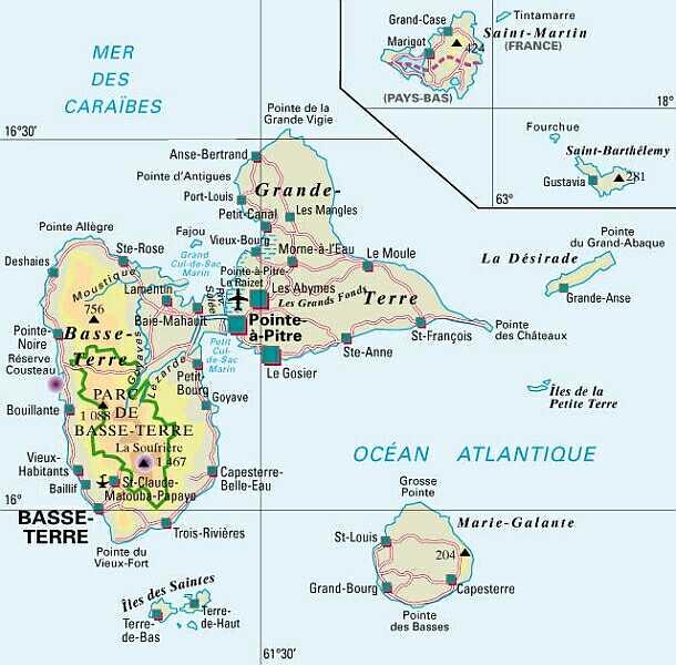 île de la guadeloupe