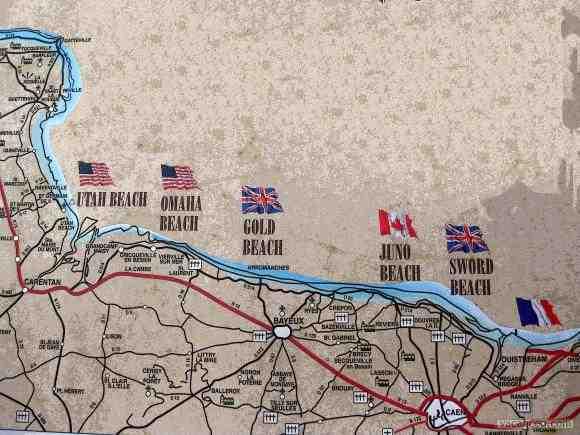 Les cinq plages du débarquement en Normandie ?