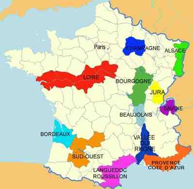 Les principaux vignobles de France ?