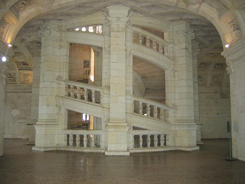 L'escalier magique de Léonard de Vinci à Chambord ?