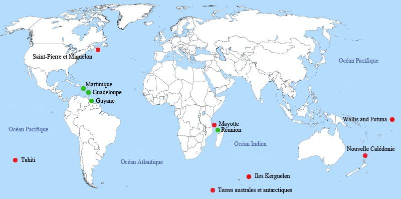 Départements d outre mer
