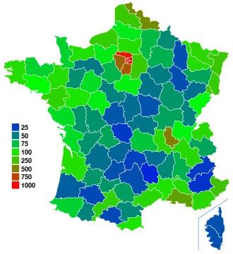 Nombre d'habitants en France en 2013 ?