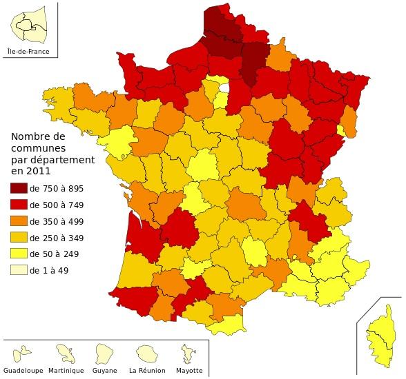 Nombre de communes en France ?