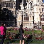 France_Paris_Notre-Dame_south_facade_garden_girl_in_black