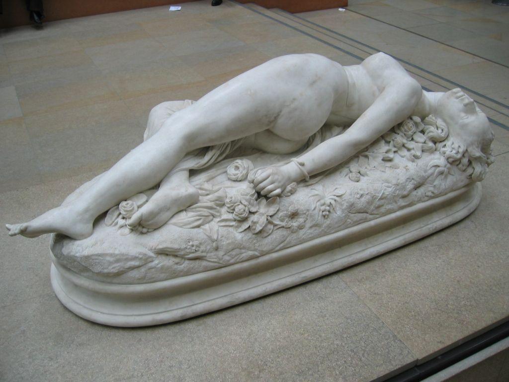 Une femme piquée par un serpent, moulée sur nature, au musée d'Orsay ?